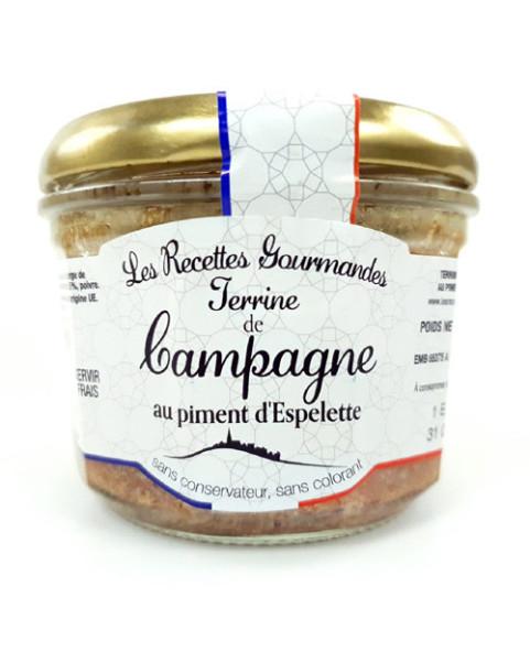 Terrine de Campagne piment d'espelette Oliveras 180g