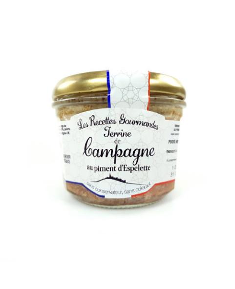 Terrine de Campagne piment d'espelette Oliveras 90g